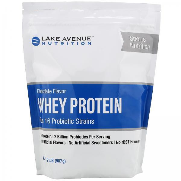 Сывороточный протеин и пробиотик, шоколадный вкус, 907 г Lake Avenue Nutrition