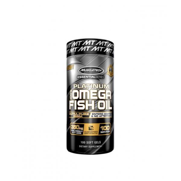 Омега - 3 с кмплекс незаменимых жирных кислот MuscleTech Platinum 100% Omega Fish Oil 100 капсул