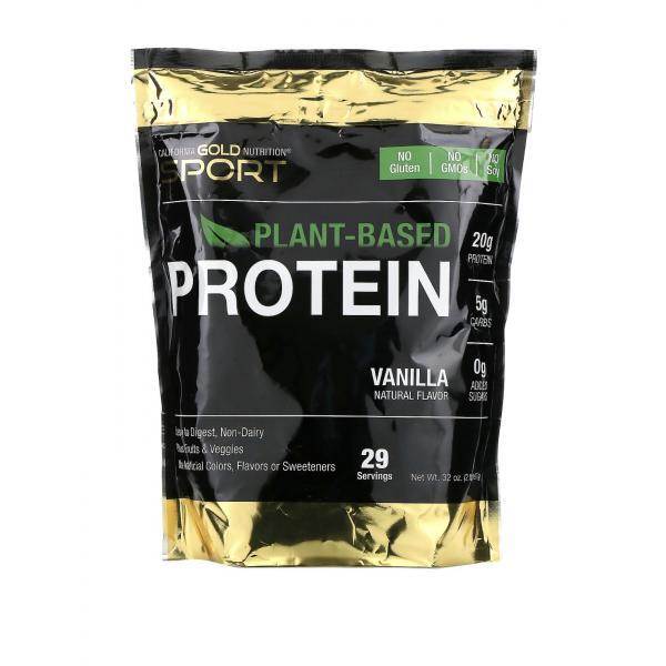 Растительный протеин, веганский, легко усваивается, California Gold Nutrition, 907 г