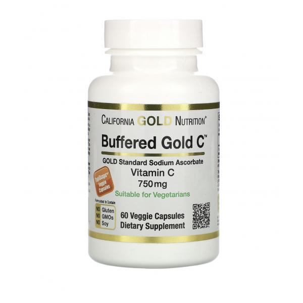 Буферированный витамин С в капсулах, 750 мл, 60 шт