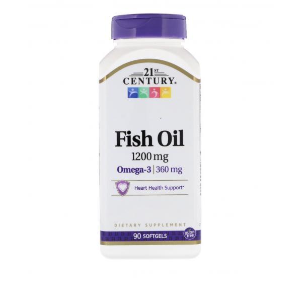 Омега-3, 1200 мг, 90 шт мягких желатиновых капсул