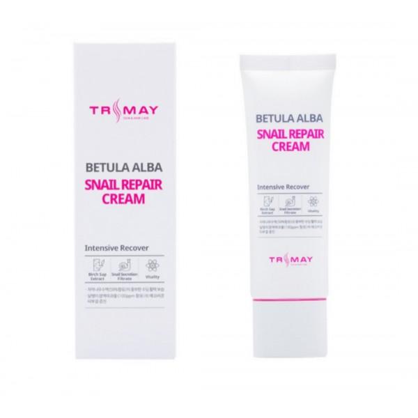 Крем с муцином улитки и березовым соком TRIMAY Betula Alba Snail Repair Cream 50 ml