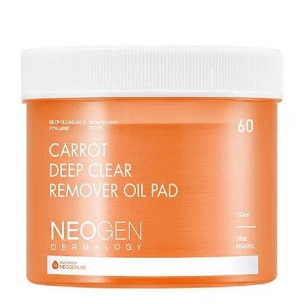 Очищающие гидрофильные диски NEOGEN Carrot Deep Clear Remover Oil Pad 60 шт