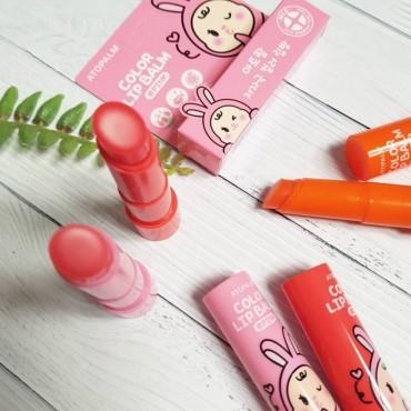 Детский увлажняющий бальзам для губ ATOPALM Color Lip Balm Pink