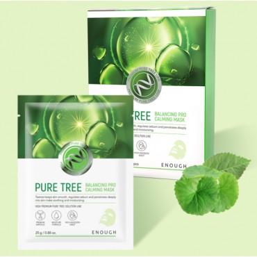 Тканевая маска с экстрактом чайного дерева Enough Pure Tree Balancing Pro Calming Mask 25 мл