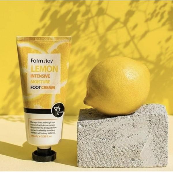 Увлажняющий и регенерирующий крем для ног FarmStay Lemon Intensive Moisture Foot Cream 100 ml