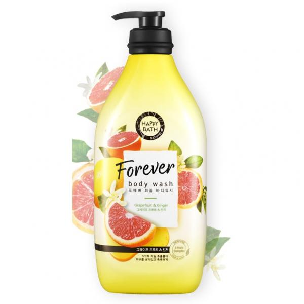 Гель для душа с маслом имбиря и фруктовыми экстрактами Happy Bath 900 ml