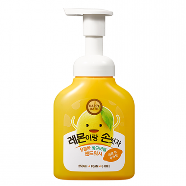 Пенка-мыло для рук с экстрактом лимона Happy Bath Bubble 250 ml