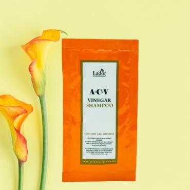 Профессиональный Глубокоочищающий шампунь с яблочным уксусом Lador ACV Vinegar Shampoo 10 мл