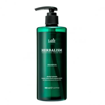 Успокаивающий травяной шампунь против выпадения волос Lador 400 мл
