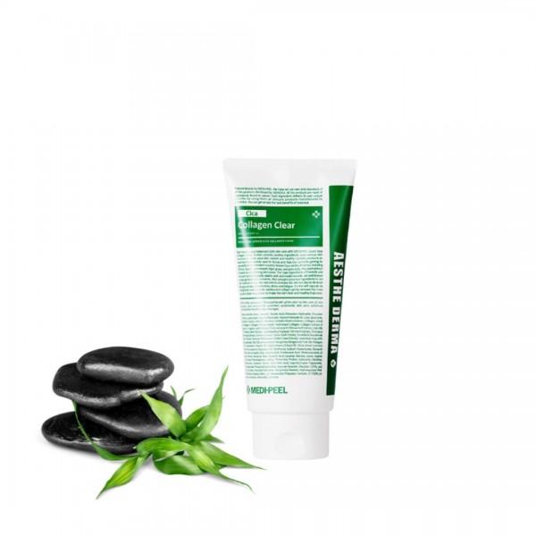 Успокаивающая и глубоко очищающая пенка с экстрактом центеллы Medi-Peel Green Cica Collagen Clear 28 ml