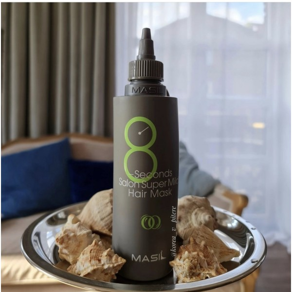 """Восстанавливающая маска для тонких и слабых волос """"Салонный эффект за 8 секунд"""" Masil 8 Seconds Salon Super Mild Hair Mask 200 ml"""