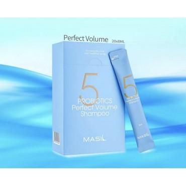 Профессиональный шампунь с пробиотиками для объема волос Masil 5 Probiotics Perfect Volume Shampoo 8 ml
