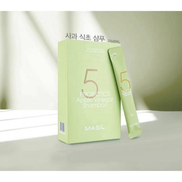 Профессиональный бессульфатный шампунь с проботиками и яблочным уксусом Masil 5 Probiotics Apple Vinegar Shampoo 8 ml