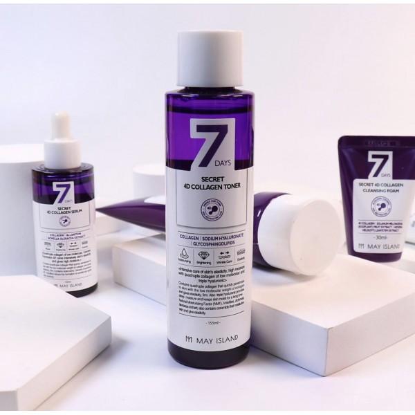 Коллагеновый тонер MAY ISLAND Seven Days Secret 4D Collagen Toner 155 мл
