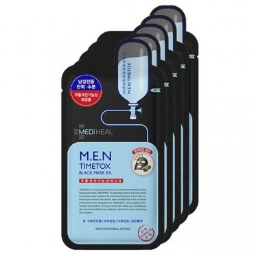Мужская очищающая угольная маска MediHeal M.E.N. Timetox Black Mask 25 ml