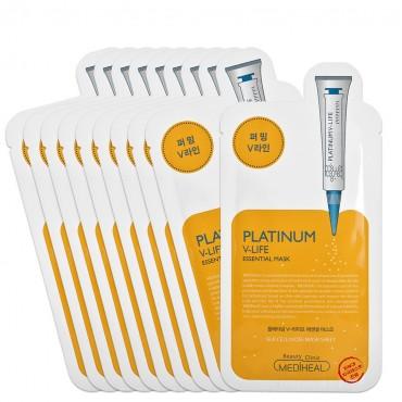 Мака для упругости и эластичности кожи  MediHeal Platinum V-life Essential Mask 24 ml