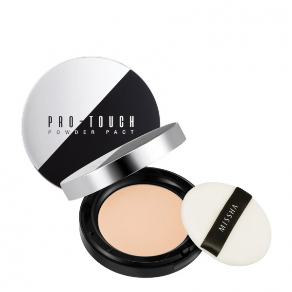 Компактная пудра для лица (No.21 Light Beige) MISSHA Pro-Touch Powder Pact SPF25/PA++