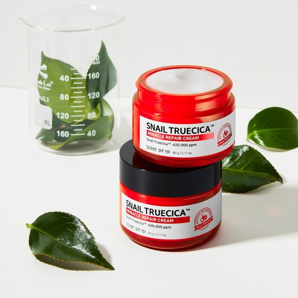 Восстанавливающий крем с керамидами и муцином улитки SOME BY MI Snail Truecica Miracle Repair Cream 60g