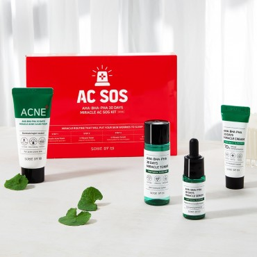Набор кислотных средств для проблемной кожи SOME BY MI AHA-BHA-PHA 30 Days Miracle AC SOS