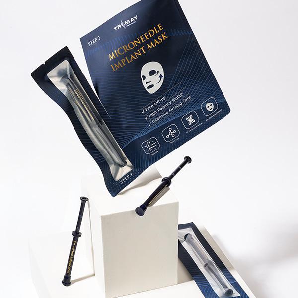Двухфазная омолаживающая маска со спикулами губки (микроиглы) TRIMAY Microneedle Implant Mask, 30 мл