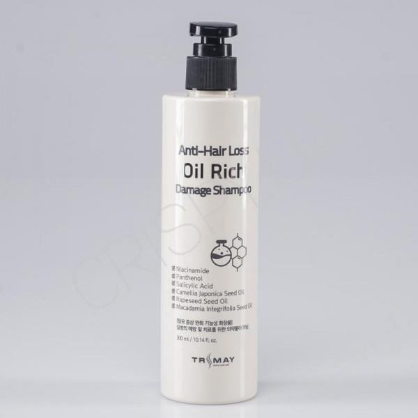 Питательный бессульфатный шампунь для волос TRIMAY Anti-Hair Loss Oil Rich Damage Shampoo 300 мл