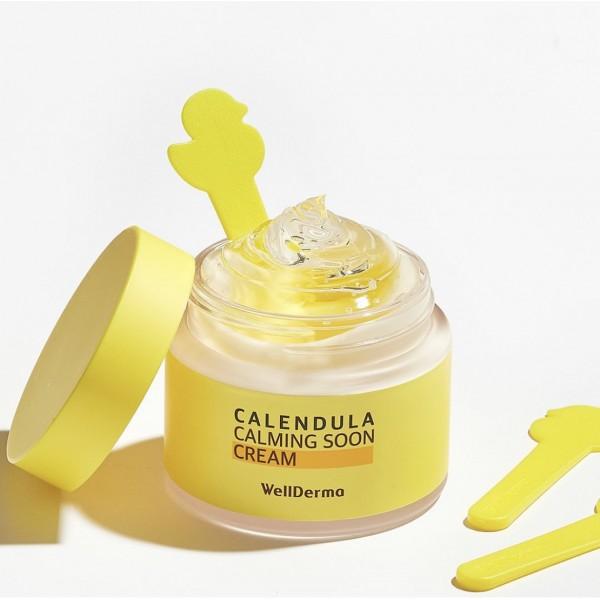 Успокаивающий крем для лица с календулой WellDerma Calendula Calming Soon Cream 80 ml