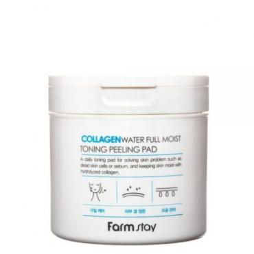 Пилинг-пэды с коллагеном FarmStay Collagen Water Full Moist Toning Peeling Pad