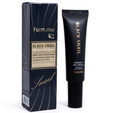 Крем для глаз с муцином черной улитки Farm Stay Black Snail Premium Eye Cream