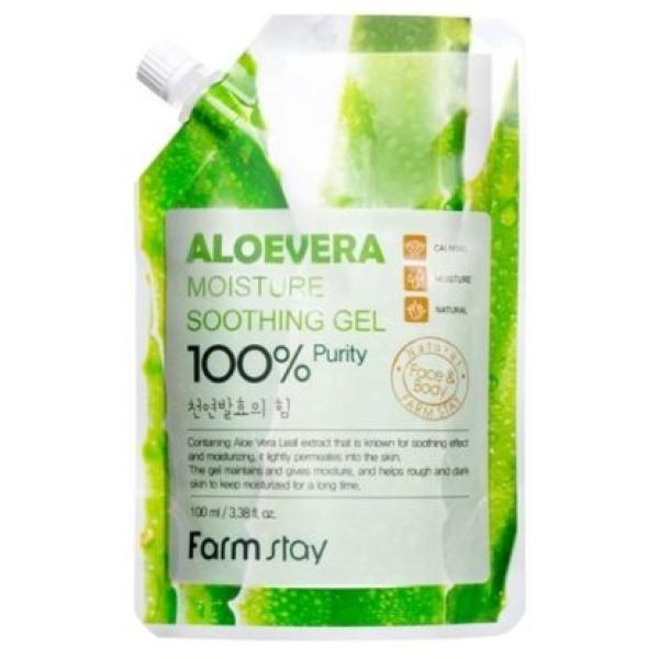 Многофункциональный гель с экстрактом алое вера FARMSTAY Aloevera Moisture Soothing Gel 100% (100 ml)
