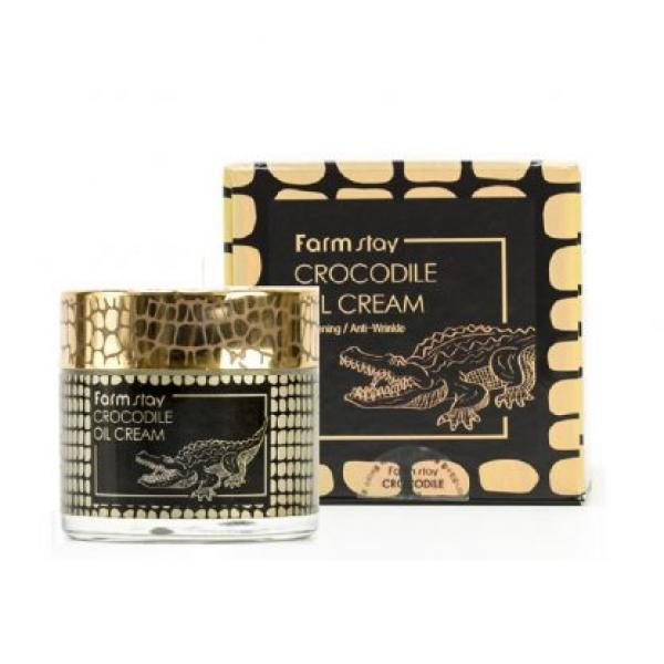 Антивозрастной осветляющий крем с крокодильим маслом FARMSTAY Crocodile Oil Cream
