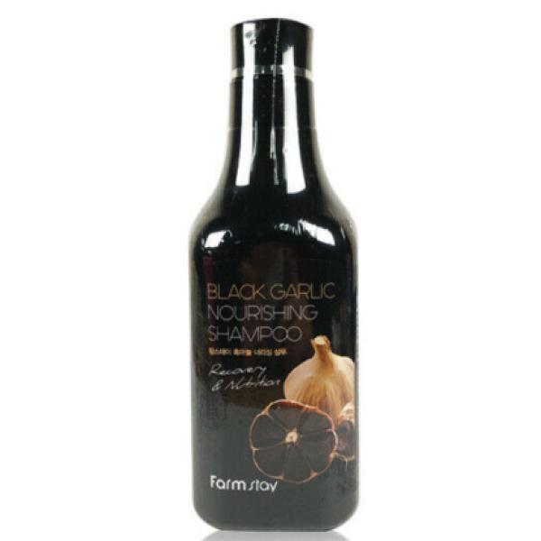 Восстанавливающий и укрепляющий шампунь с экстрактом черного чеснока FarmStay Black Garlic Nourishing Shampoo 530 мл