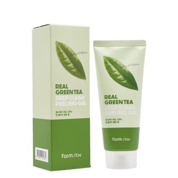 Пилинг-гель с экстактом зеленого чая FarmStay Green Tea real deep clear peeling gel