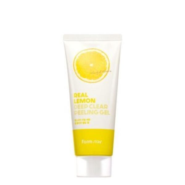 Пилинг-гель с экстрактом лимона  FarmStay Real Lemon Deep Clear Peeling Gel