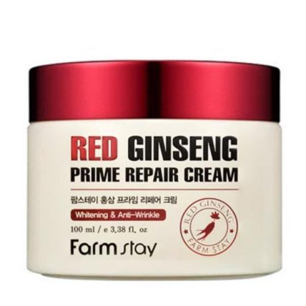Антивозрастной крем с экстрактом женьшеня FarmStay Red Ginseng Prime Repair Cream