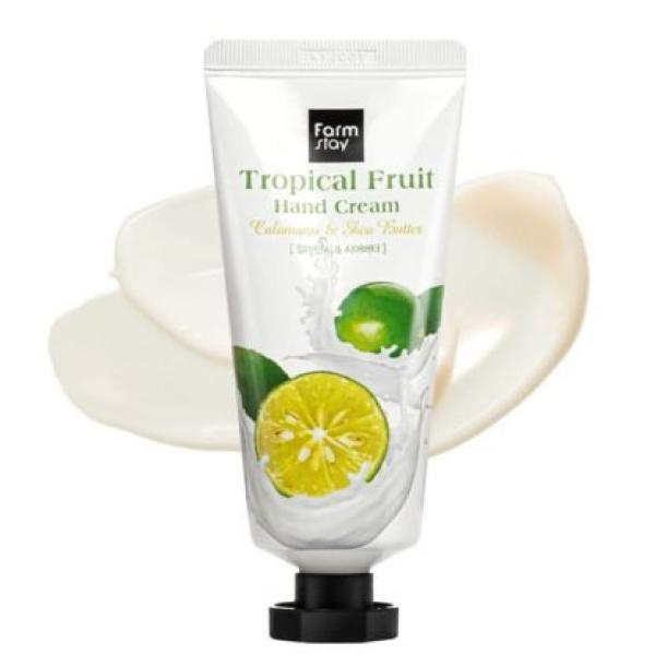 Крем для рук с маслом ши и каламанси FarmStay Tropical Fruit Hand Calamansi & Shea Butter