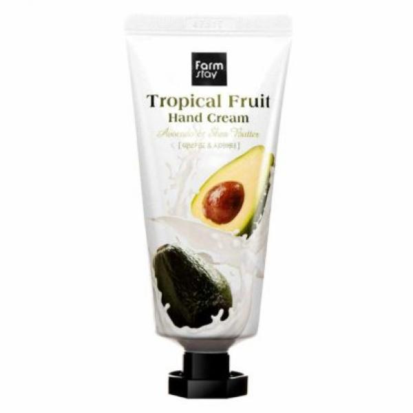 Крем для рук с авокадо и маслом ши FarmStay Tropical Fruit Hand Cream Avocado & Shea Butter