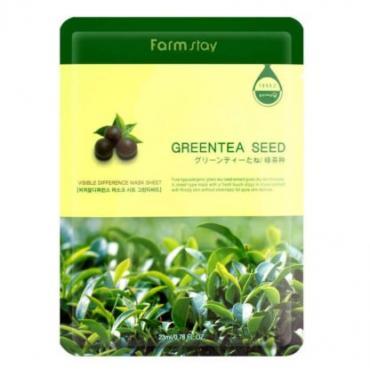 Тканевая маска  экстрактом зеленого чая FarmStay Visible Difference Green Tea Seed Mask Sheet