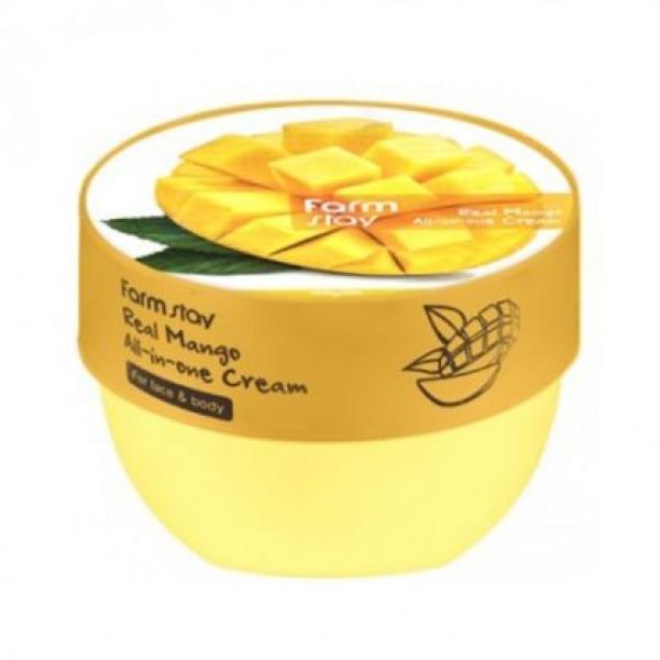 Крем для лица и тела с маслом манго FARMSTAY Real Mango All-in-One Cream