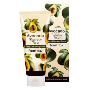 Пенка для умывания с экстрактом авокадо FarmStay Avocado Cleansing Foam