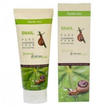 Очищающая пенка с экстрактом улитки FarmStay Snail Pure Cleansing Foam