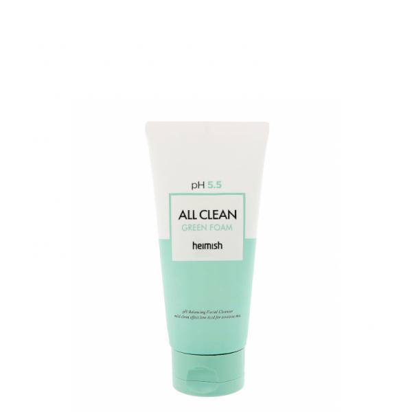 Пенка для умывания pH 5.5 Heimish All Clean Green Foam 30 мл