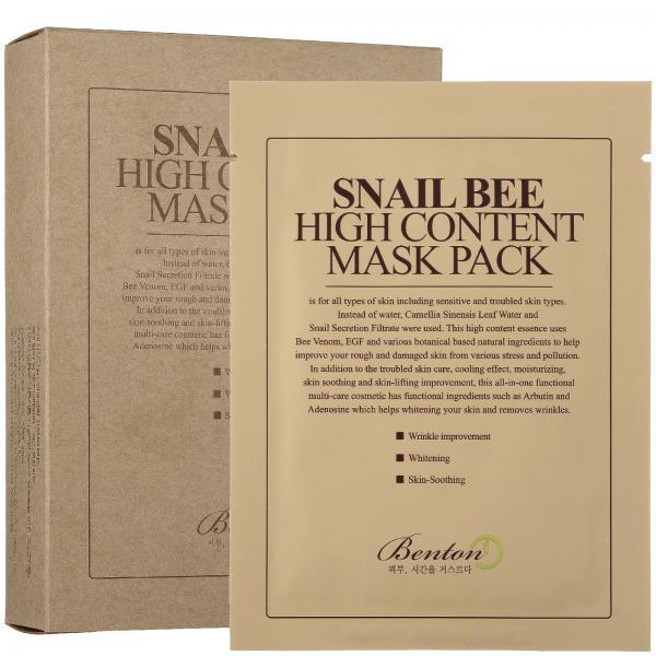 Маска с высоким содержанием муцина улитки и пчелиным ядом