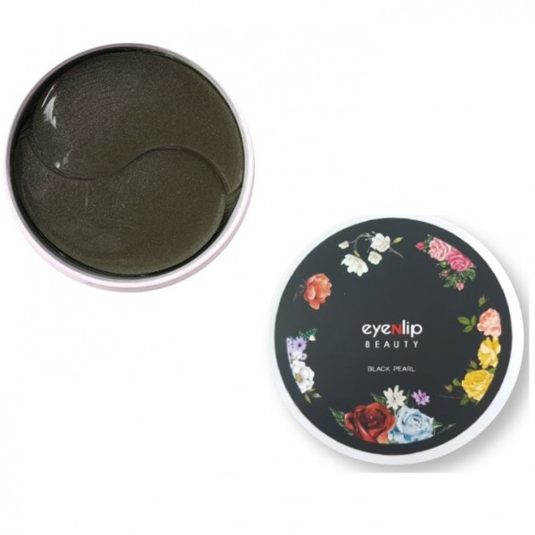 Гидрогелевые патчи с черным жемчугом EYENLIP Black Pearl Eye Patch 60 шт
