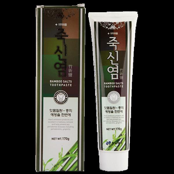 Зубная паста с экстрактом бамбуковой соли HANIL Bamboo Salts Toothpaste