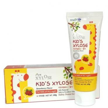 Детская зубная паста с экстрактос клубники HANIL KIDS XYLOSE