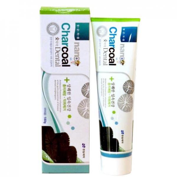 Зубная паста с серебром и бамбуковым углем HANIL NANO Charcoal Dental