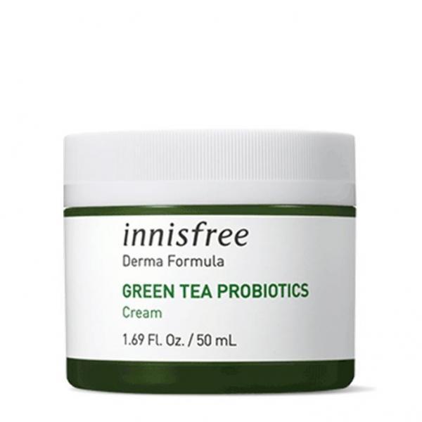 Крем с комплексом церамидов и пробиотиков Innisfree Derma Formula Green Tea Probiotics Cream