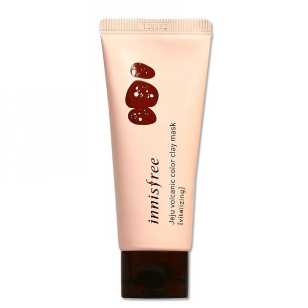 Гелевая маска для обновления кожи Innisfree Jeju Volcanic Color Clay Mask (vitalizing pink)