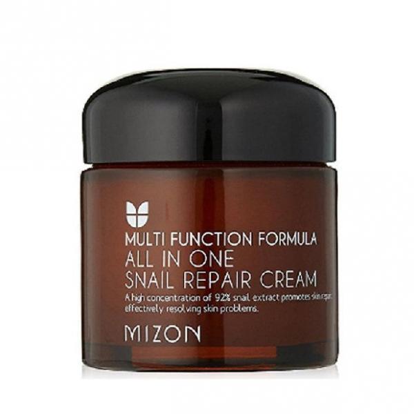 Восстанавливающий крем на основе слизи улитки MIZON All In One Snail Repair Cream  92% Snail Extract